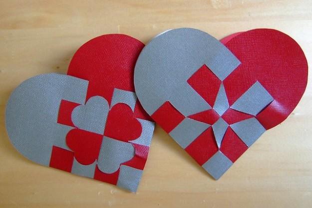 cuore con il cartoncino