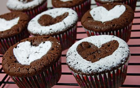 cupcake cuore cioccolato