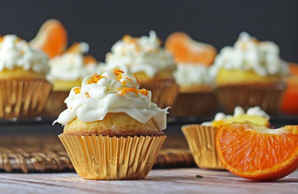 cupcake mandarino