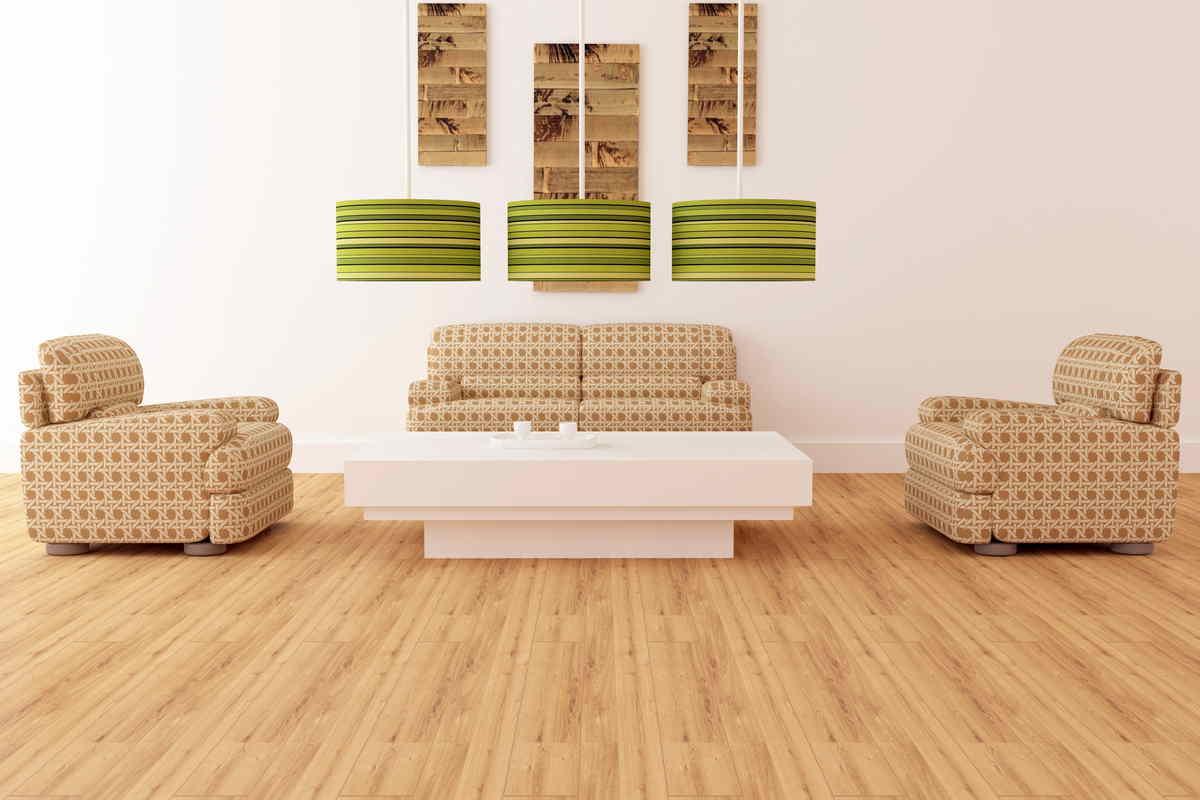 Casa arredata in modo ecologico con legno e bambù