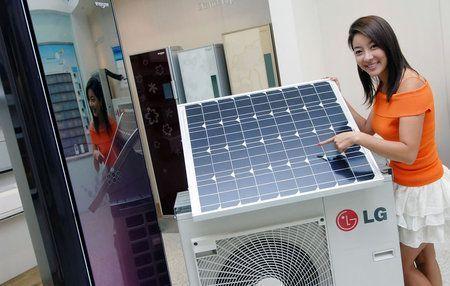 condizionatore alimentato da un pannello solare