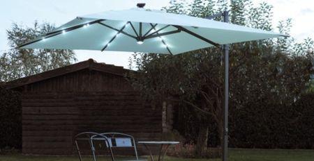 fotovoltaico ombrellone solare a led