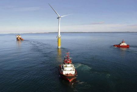 prima centrale al mondo con turbine galleggianti