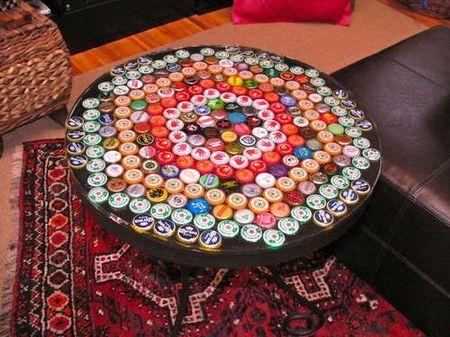 riciclaggio creativo riutilizzare tappi bottiglie