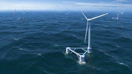Energia eolica, previsto successo delle turbine galleggianti
