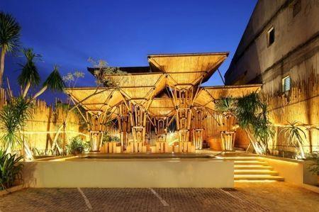 bioarchitettura ecoristorante bamboo