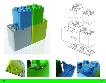 raccolta differenziata secchi modulari