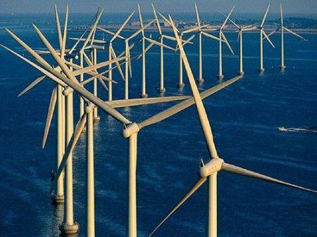 Centro eolico nell'Atlantico