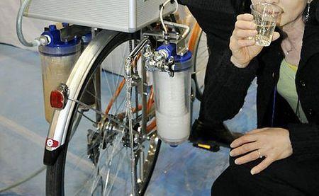 acqua potabile purificare acqua biciclette