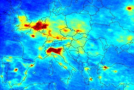 inquinamento europa mappe online