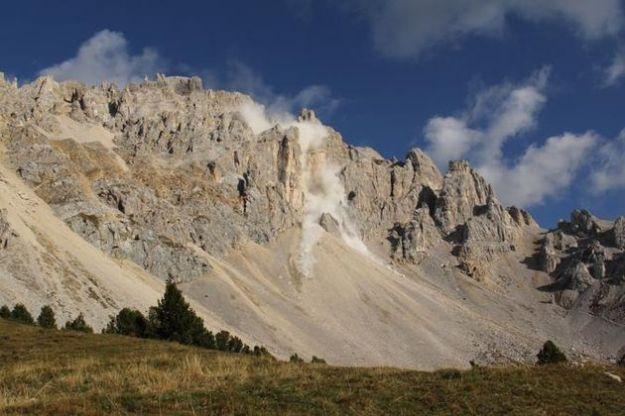 dolomiti crolli evoluzione paesaggio