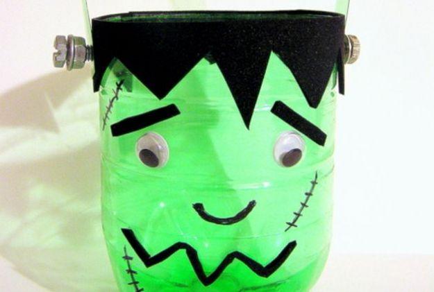 lavoretti halloween riciclo creativo bottiglie plastica