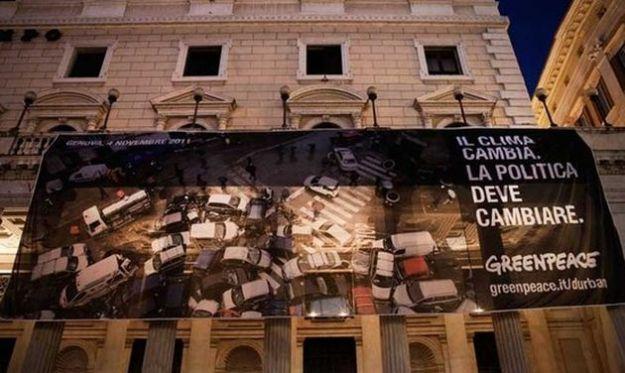 cambiamenti climatici greenpeace palazzo chigi