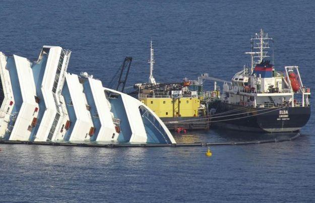 nave costa concordia recupero carburante