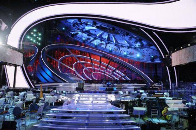 sanremo 2012 palcoscenico fiori
