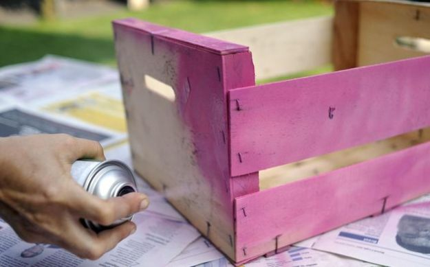 riciclo creativo cassette frutta