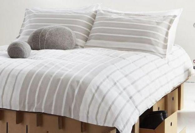 paperpedic bed letto cartone