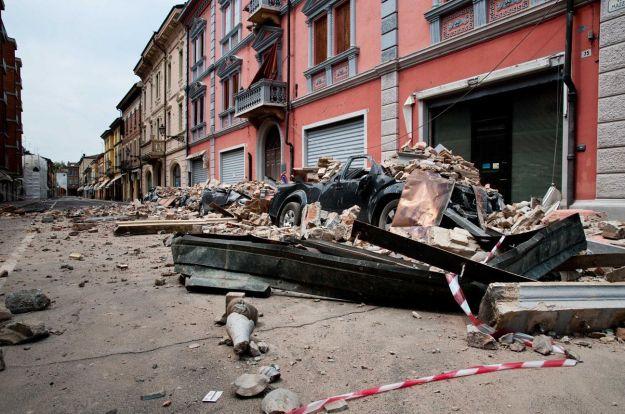 La città di Concordia gravemente colpita dal terremoto
