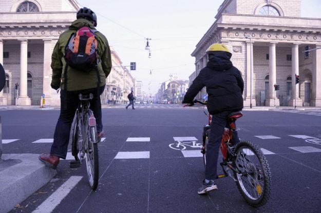 blocco del traffico a Milano
