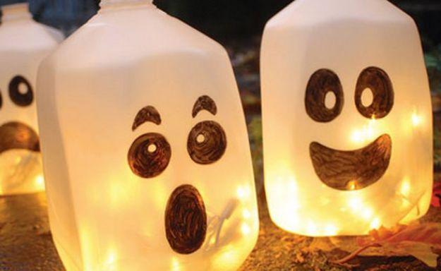 idee fai da te halloween contenitori fantasmi