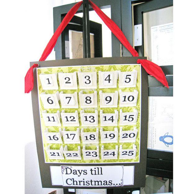 Calendario dell'Avvento con sacchetti di carta