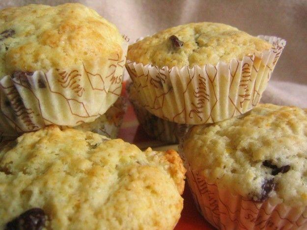 muffin al limone e mirtillo rosso