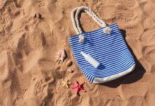 Borsa da mare fai da te sulla spiaggia