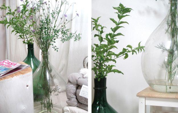 damigiane con fiori