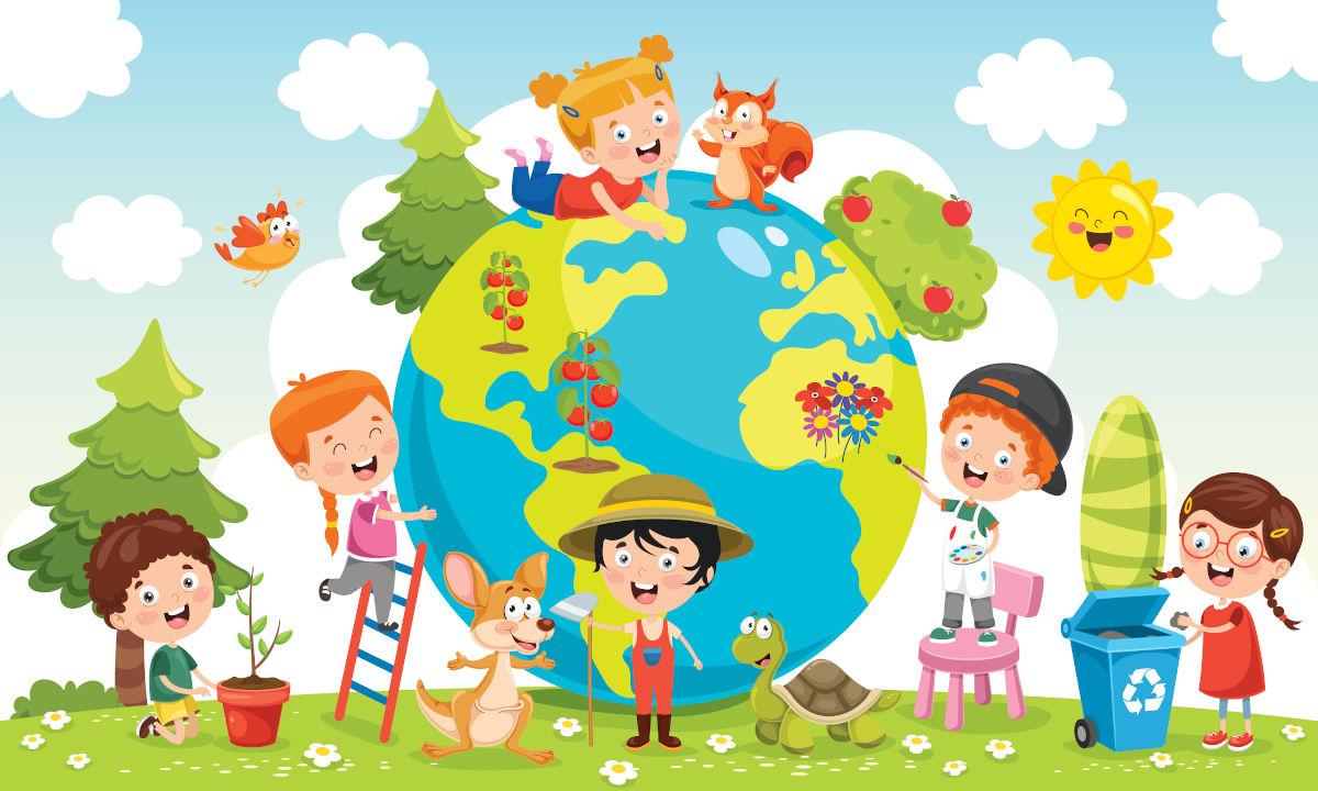 Mappa per spiegare l'ecologia bambini