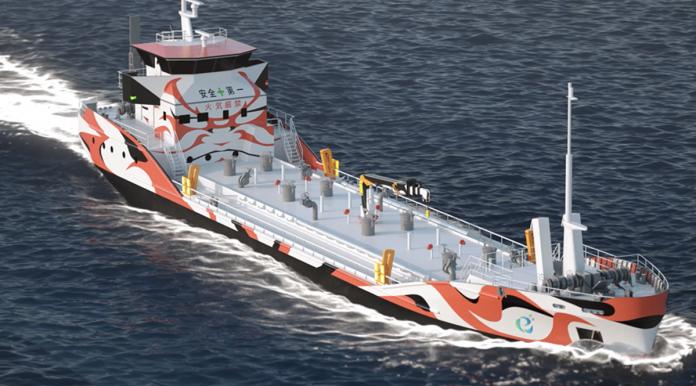 La petroliera elettrica della Asahi tanker