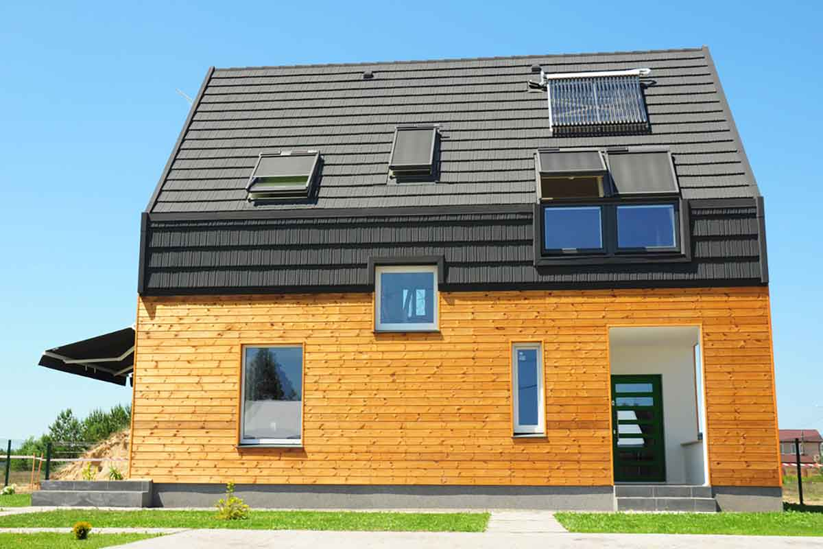 Casa sostenibile in legno