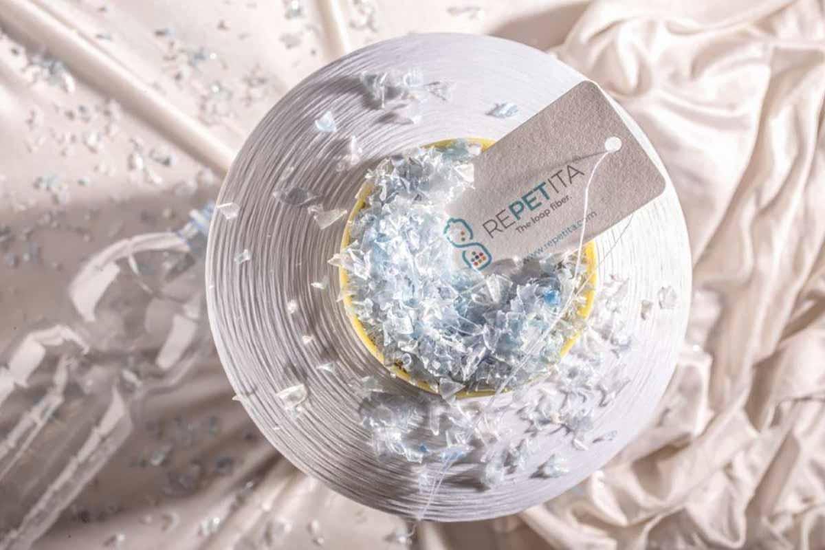 Repetita fibra tessile poliestere rigenerato