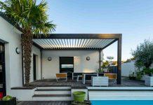 Casa green con pergole bioclimatiche