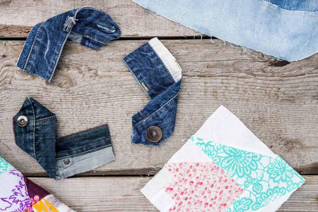 Jeans tagliati per upcycling