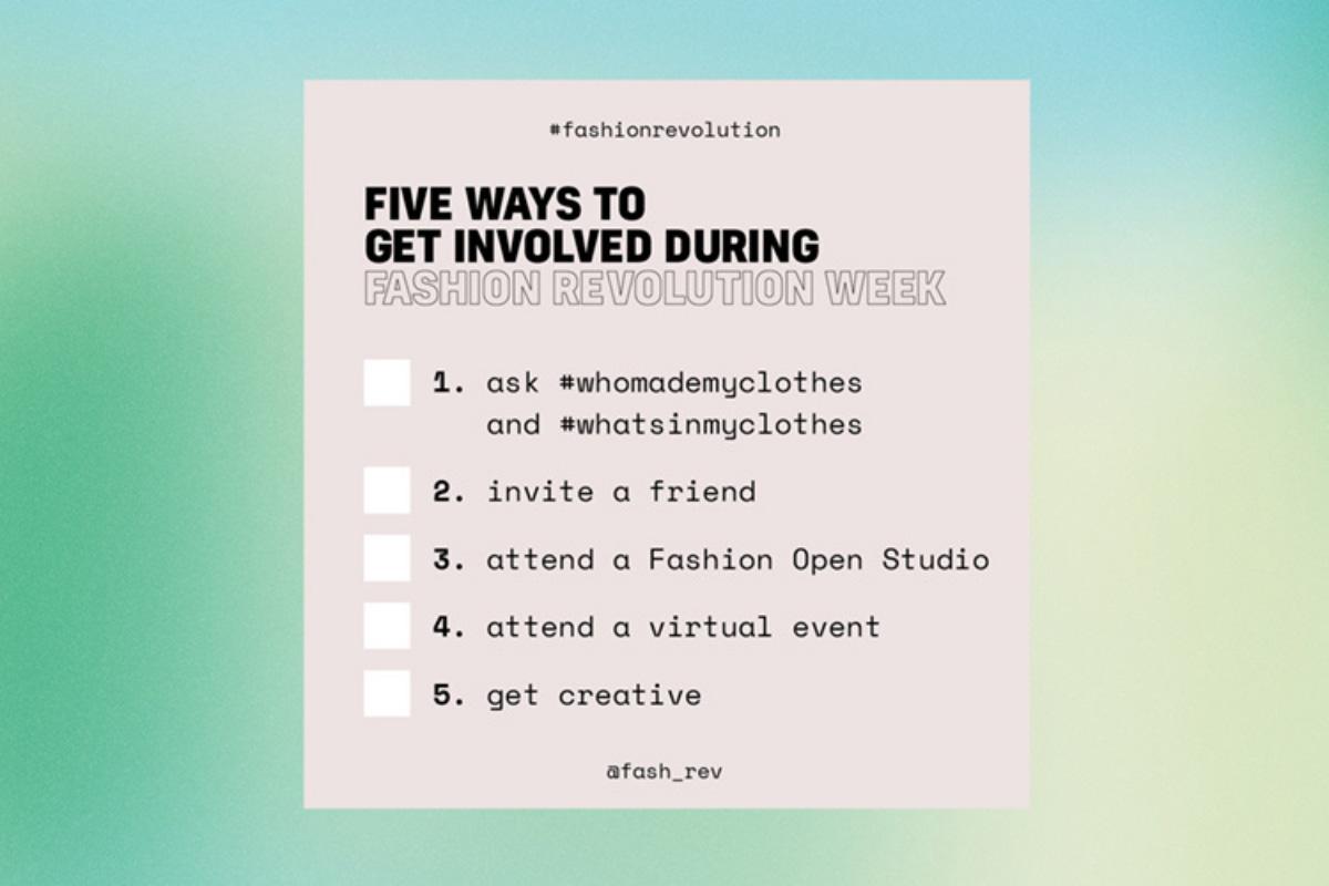 Fashion Revolution, 5 modi per essere coinvolti