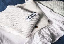 Tessuto bianco moda sostenibile