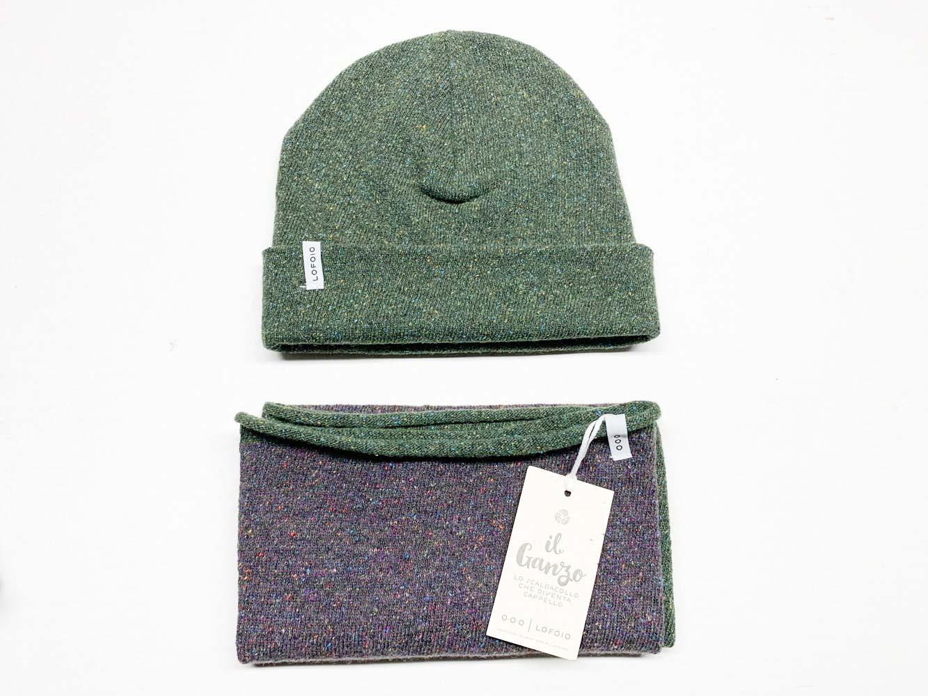 sciarpa e cappello in lana rigenerata LO FO IO