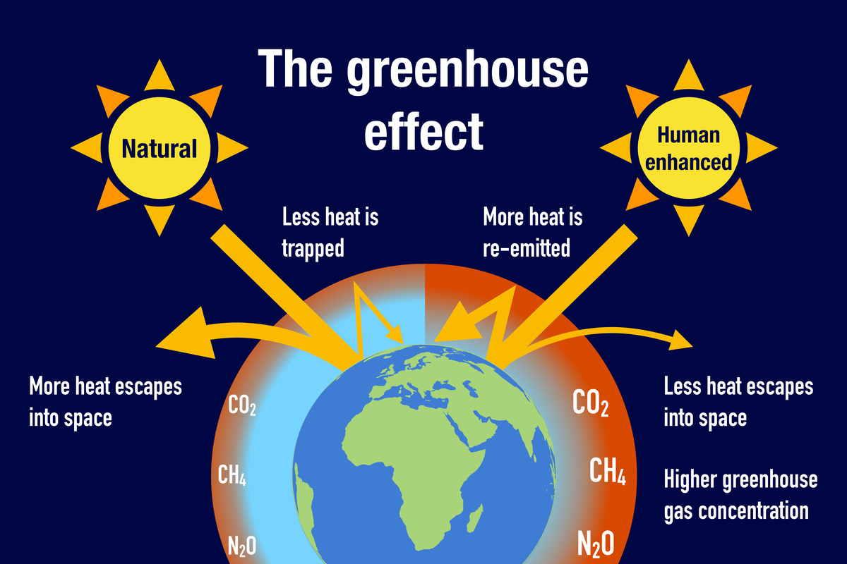 Effetto serra spiegazione grafica